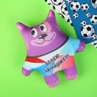 """Мягкая игрушка-антистресс """"Коты Футболисты"""", набор, 4 шт"""