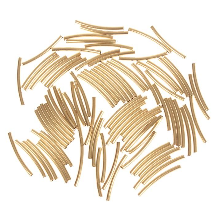 "Декор для творчества металл ""Изогнутая трубка"" набор 90 шт 2,5х0,2 см - фото 416683"