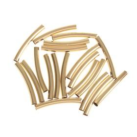 "Decor art metal ""Bent tube"" set of 20 PCs 4x0,5 cm"