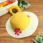 """Шляпка детская """"Цветок"""", р-р 50-52 см, цвет жёлтый"""