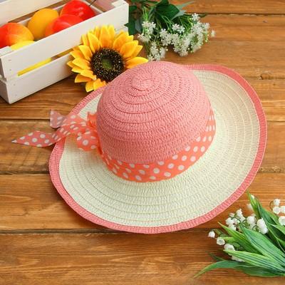 """Карнавальная шляпка детская """"Горох"""" р-р 50-52 см, цвет светло-розовый"""