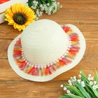 Шляпка детская «Косички», р-р 50-52 см, цвет белый