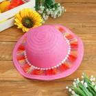 """Шляпка детская """"Косички"""", р-р 50-52 см, цвет розовый"""