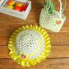 Набор сумочка и шляпка с цветочком р-р 50-52 см, цвет жёлтый