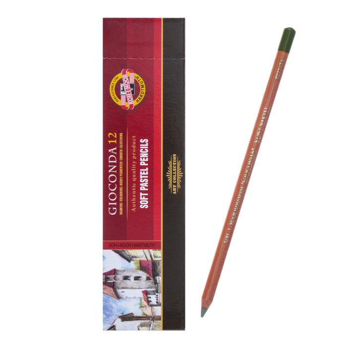 Пастель сухая в карандаше Koh-I-Noor GIOCONDA 8820/24 Soft Pastel, в карандаше, тёмно-зелёная, оливковая