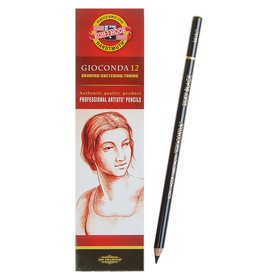 Карандаш художественный чернографитный 4.2 мм, Koh-I-Noor GIOCONDA 8815 soft, чёрный, L=175 мм