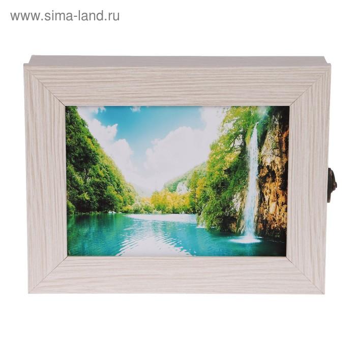 """Ключница  """"Спокойная река"""" молочный дуб 18х23х5 см"""