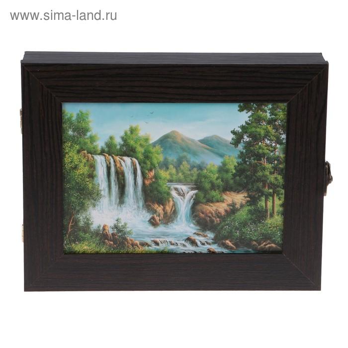 """Ключница SI-137 """"Водопад"""" венге 18х23х5 см"""