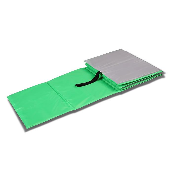 Коврик гимнастический детский 150 × 50 см, цвет салатовый/серый