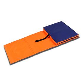 Коврик гимнастический детский 150 × 50 см, толщина 7 мм, цвет оранжевый/синий