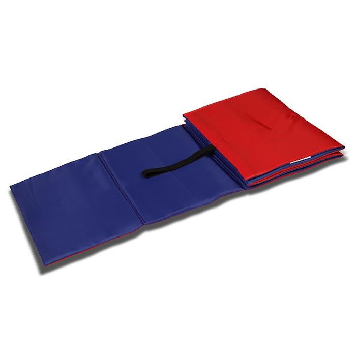 Коврик гимнастический детский 150 × 50 см, цвет синий/красный