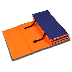 Коврик гимнастический взрослый 180 × 60 см, цвет оранжевый/синий