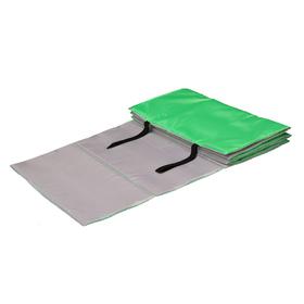 Коврик гимнастический взрослый 180 × 60 см, цвет салатовый/серый