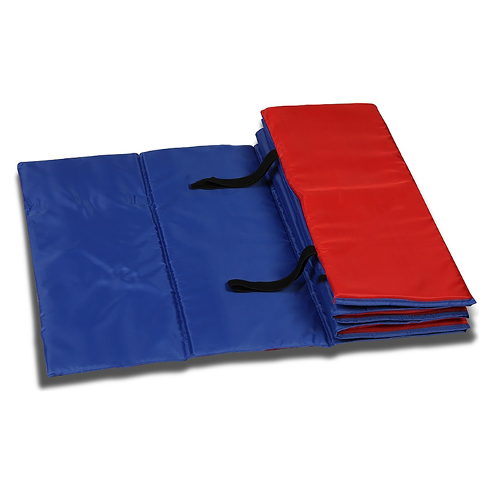 Коврик гимнастический взрослый 180 × 60 см, цвет синий/красный