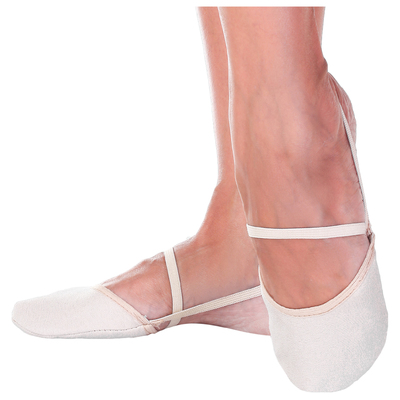 Half shoes microfiber, size 26/27, color beige