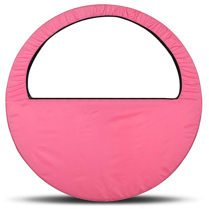 Чехол-сумка для обруча, диаметр 60-90 см, цвет розовый