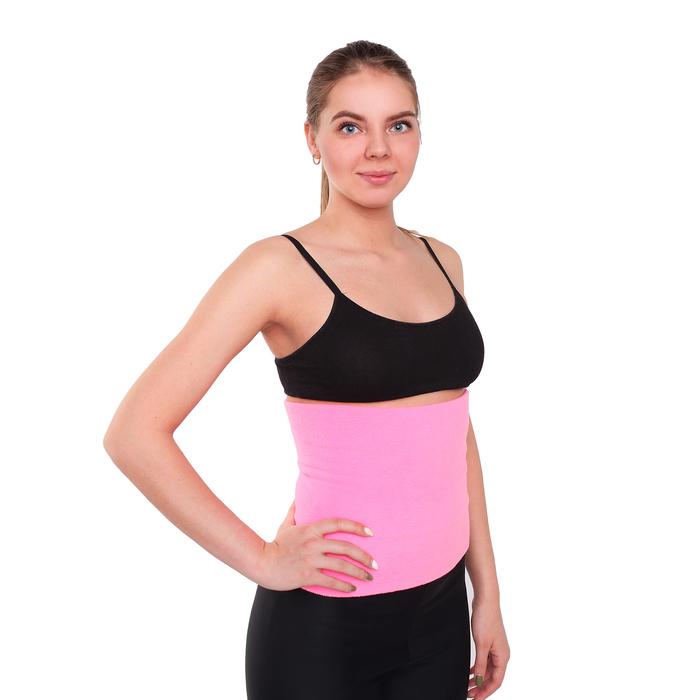 Пояс разогревочный Флис 24х25см, размер XXXS, цвет розовый