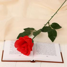 """Flowers artificial """"French rose"""" 7*40 cm red"""
