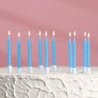 """Свечи """"С днём рождения"""" 10шт, синие"""