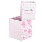 "A set of folding boxes of ""Nice stuff"", 2 PCs 8 × 8 × 10 cm, 10 × 10 × 12 cm"