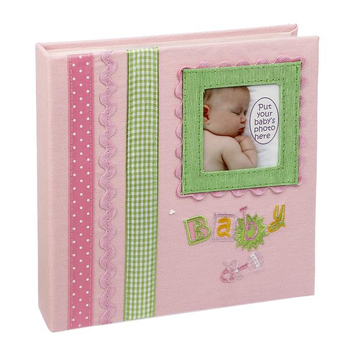 """Фотоальбом на 180 фото 10х15 см Innova """"Детские воспоминания"""" розовый подарочная упаковка"""