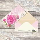 Конверт для денег «С днём свадьбы», роза, 16,5 х 8 см