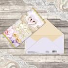 Конверт для денег, «С днём свадьбы», два лебедя, 16,5 х 8 см