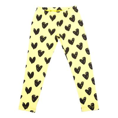 Легинсы для девочки, рост 134 см, цвет жёлтый/чёрный