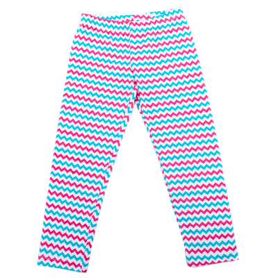 Легинсы для девочки, рост 134 см, цвет розовый голубой