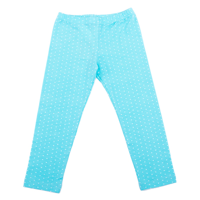 Легинсы для девочки, рост 128 см, цвет голубой