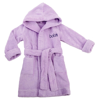 Халат банный для мальчика, рост 104 см, цвет фиолетовый М0001/8