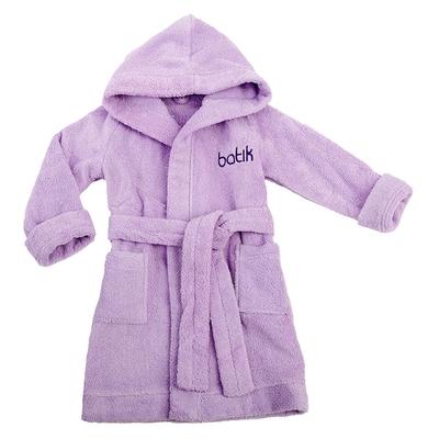 Халат банный для мальчика, рост 128 см, цвет фиолетовый М0001/8