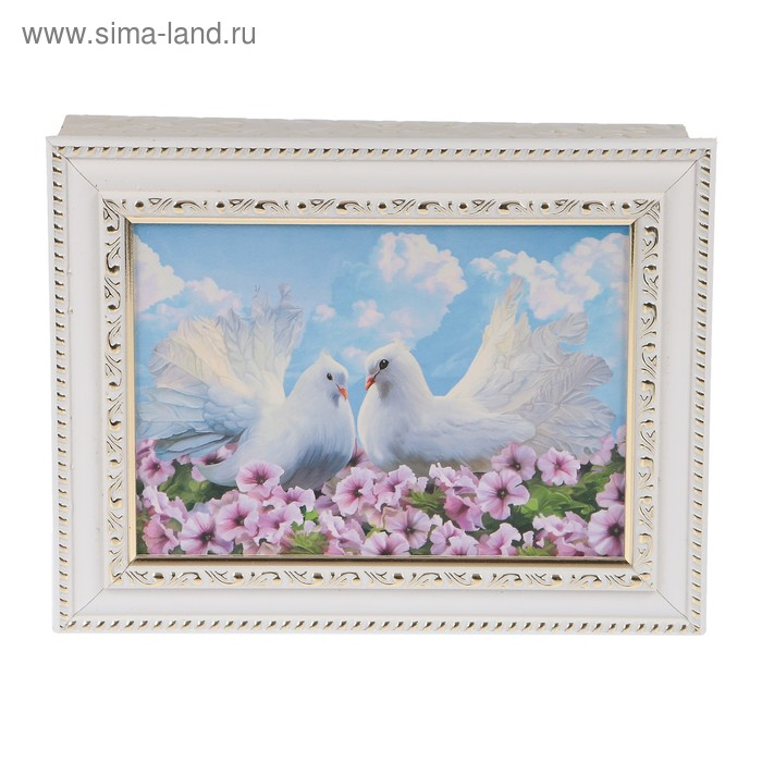"Ключница ""Пара голубей"" багет Я2 18х23х5 см"