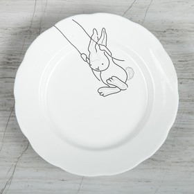 Тарелка «Зайчик на качеле», d=17,5 см