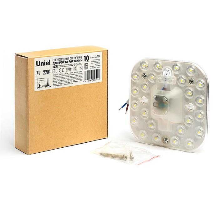 Фитосветильник светодиодный Uniel, спектр для фотосинтеза, угол 150°, 6 Вт, 220 В