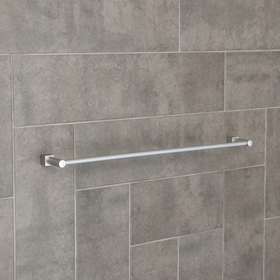 "Towel holder, single, aluminum ""Cube"""