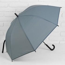 Зонт полуавтоматический 'Клетка мелкая' , трость, R=46см, цвет серый Ош