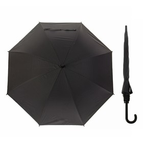 Зонт полуавтоматический 'Клетка мелкая' , трость, R=46см, цвет чёрный Ош
