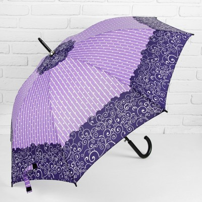 "Umbrella semi-automatic ""Curls"", 8 spokes, R = 52 cm, color purple"