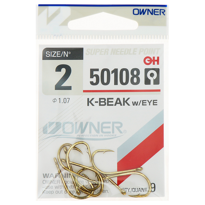 Крючок Owner 50108 №2 , набор 9 шт.