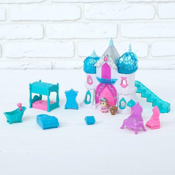 Замок для кукол «Снежное королевство» с аксессуарами, световые и звуковые эффекты