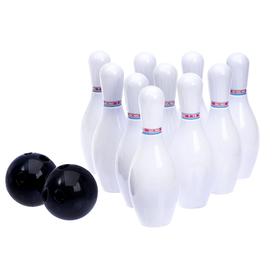 Набор для боулинга 'Лидер', 10 кеглей (высота 15 см), 2 шара Ош