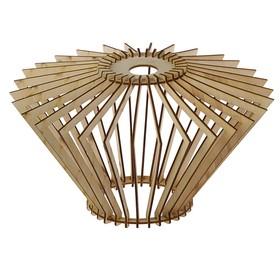 Абажур деревянный 'Кристалл', 35х20см Ош