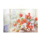 """Картина на подрамнике """"Тюльпаны с черёмухой"""" 64*44 см"""