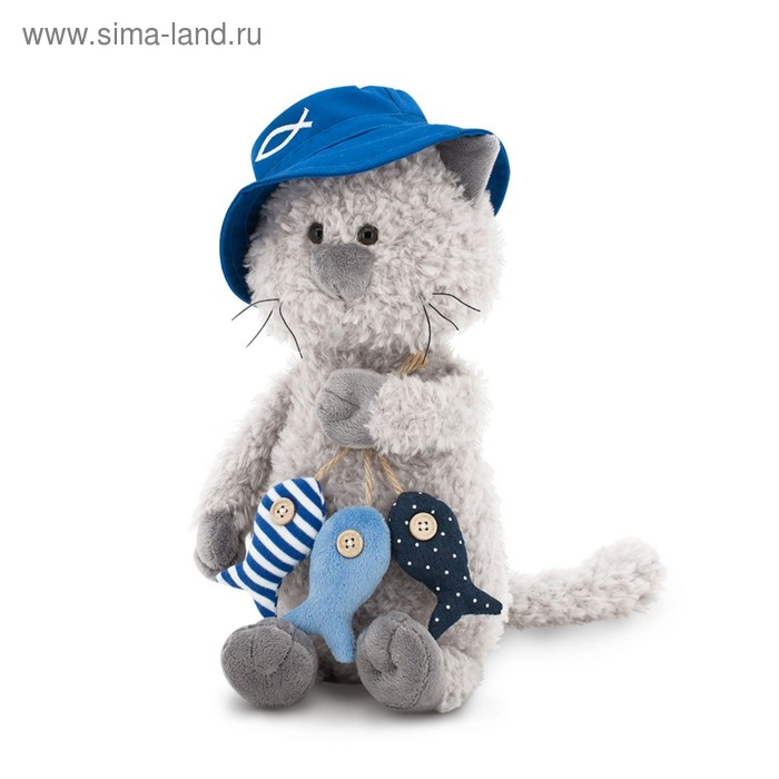 Мягкая игрушка «Кот Обормот: Рыбак», 30 см