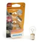 Лампа автомобильная Philips, P21W (BA15s), 12 В, 21 Вт, набор 2 шт