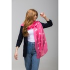 """Палантин Этель """"Снежинки"""", размер 70 х 180 см, вид 1, цвет розовый/белый"""