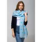 """Палантин Этель """"Снежинки"""", размер 70 х 180 см, вид 2, цвет голубой/синий"""