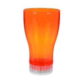 A backlit glass, color orange