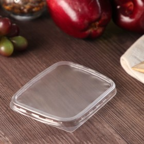 Крышка одноразовая «Юпласт», 108×82мм, для прямоугольного контейнера, 100 шт/уп. Ош